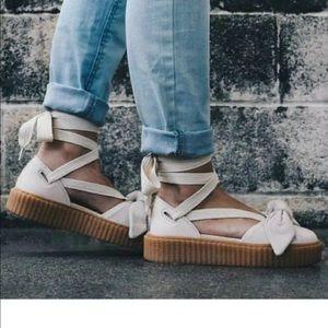NWOB Puma x Fenty Women's 8.5 Bow Creeper Sandals